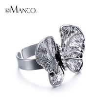 2016 новый eManco животных открытие кольца для любовника горный хрусталь сплава бабочка насекомое посеребренная кольцо женщины палец ювелирные изделия(China (Mainland))