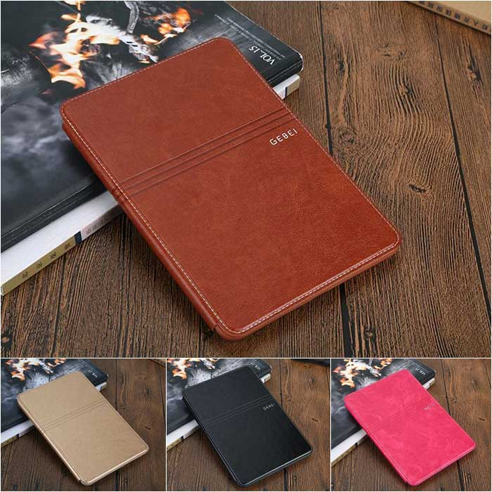 Top Grade Business Genuine Leather Case for Apple iPad mini4 High Quality Foldable Stand Card Smart Cover for iPad mini4<br><br>Aliexpress