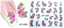 60Sheets XF1061 XF1120 Nail Art Water Tranfer Sticker Nails Beauty Wraps Foil Polish Decals Temporary Tattoos