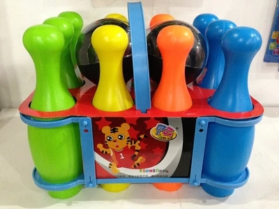 A genuine 8 inch bowling ball games toys children toys set(China (Mainland))