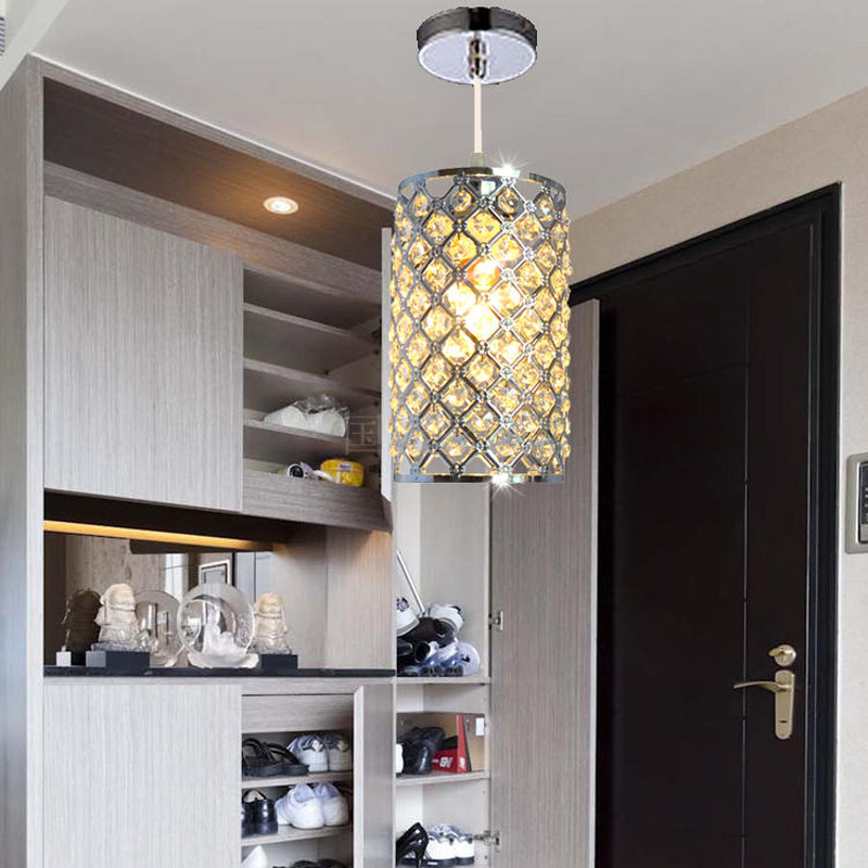 modern single LED gold crystal chandeliers lights modern crystal lamps aisle high power lights