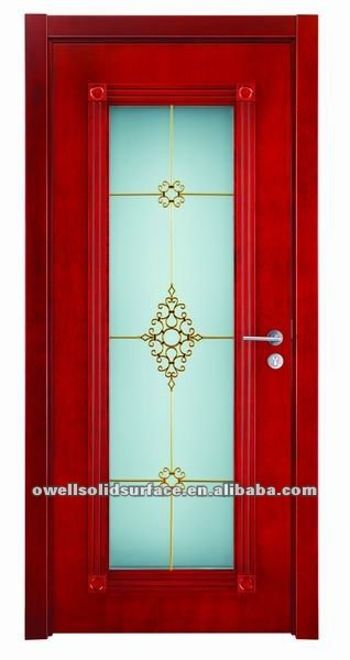 panel wooden framed door with glass(China (Mainland))