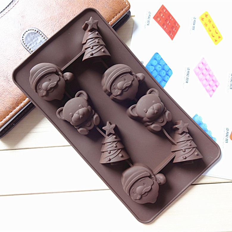 Silicone Mold Christmas bells soap cake Chocolate jelly ice macarons mold 3D Food Grade Silicone Mould for summer Free Shipping(China (Mainland))