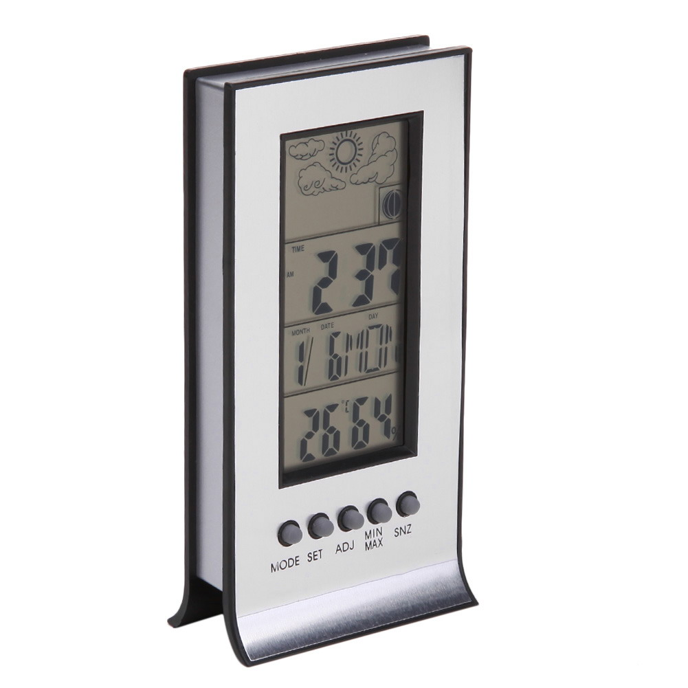 Digital Weather Station Wireless Indoor Outdoor Room Thermometer Electronic LCD Wall Clock Hygrometer For Baby Room
