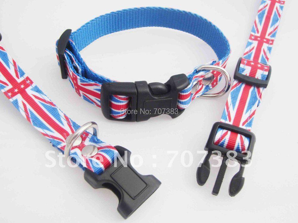 Free shipping uk Nylon Pet Dog dog collar if you need dog leash you can other buy(China (Mainland))