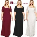 Women Dress Plus Size 6l Long Maxi Lace Dresses 6xl 7xl 8xl 9xl 2016 Ukraine Elegant
