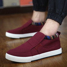 2016 new summer men's canvas breathable Korean fashion casual low shoes