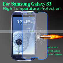 Ultra Thin Premium 0.3mm Tempered Glass Screen Protector Film + Clean Tool for Samsung Galaxy S3 i9300 with Strong Box(China (Mainland))