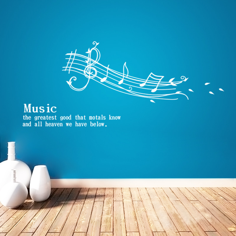 Hot The music is classical notes greastest 3D stickers removable wall decor wall WVinyl all tattoo art home decor Poster DIY(China (Mainland))