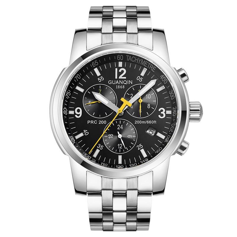 2016 Новая Мода Часы Мужчины Люксовый Бренд GUANQIN мужская Час Аналоговый Спортивные Часы Человек Военный Наручные Часы Мужчины