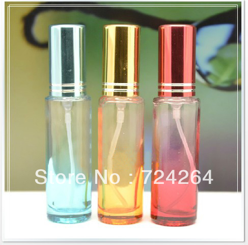 10ML perfume glass bottle for sale airless roll on bottle mini jar mascara eau de toilette christmas gift 10pcs/lot 1503610A(China (Mainland))