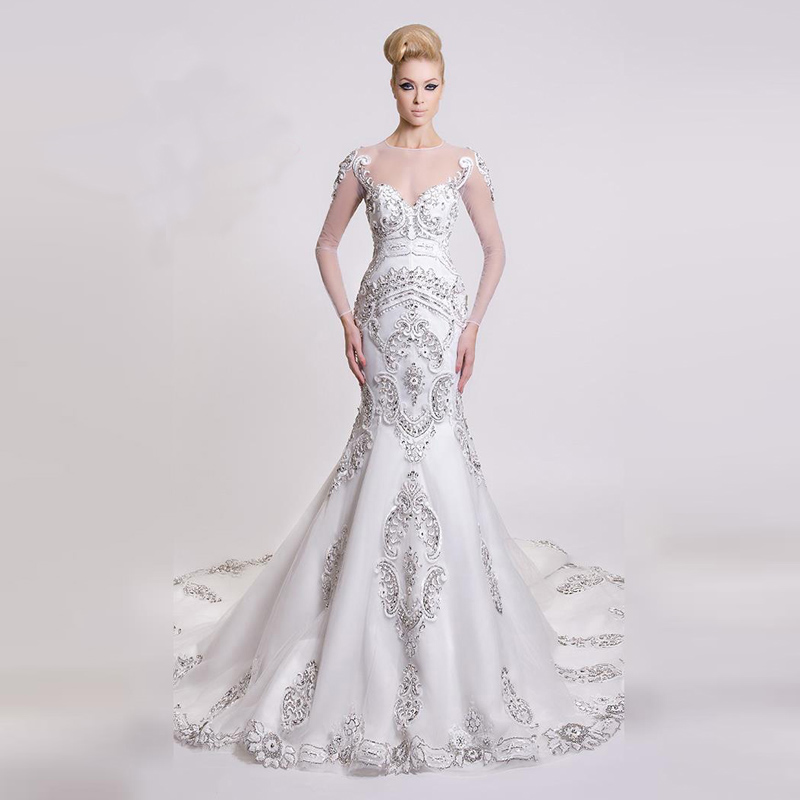 Elegant Bridal 2016 Beautiful Fit Flare Mermaid Beaded