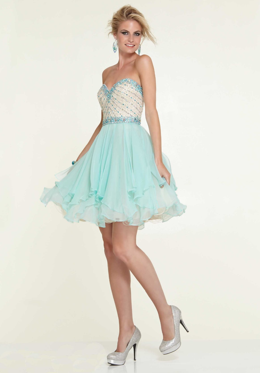 Homecoming Dresses Light Blue - Holiday Dresses