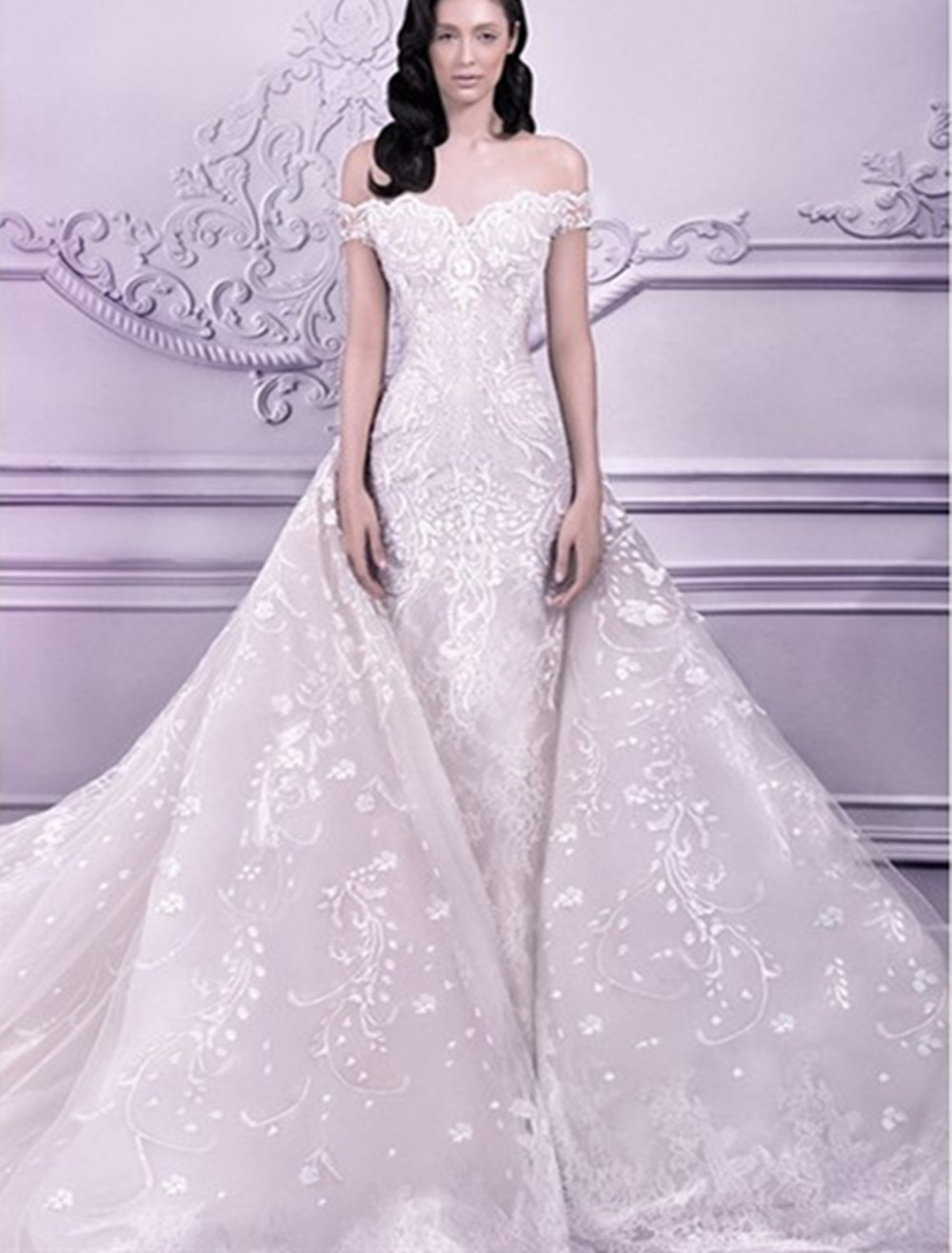 list detail expensive wedding dresses expensive wedding dress Newest Expensive Fashion Three Quarter Sleeve Brush Train Floor Length Ball Gown Wedding Dresses Vestidos Cheap With A Sash AT01