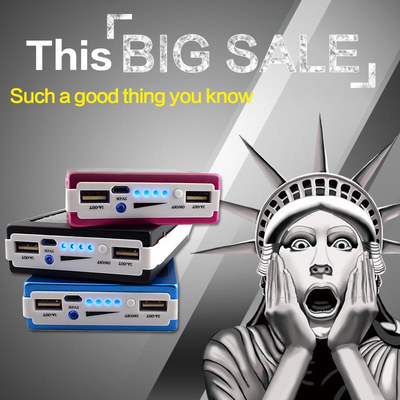 Mini 12000 MAH Dual USB Solar Panel font b Power b font font b Bank b