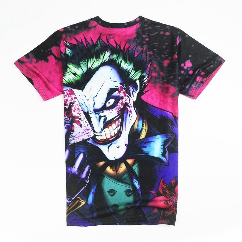 Halloween Joker 3D T shirt Casual Funny Anmie Character Joker Poker 3D T-shirt Summer style Full Printing Tops Tees (15)