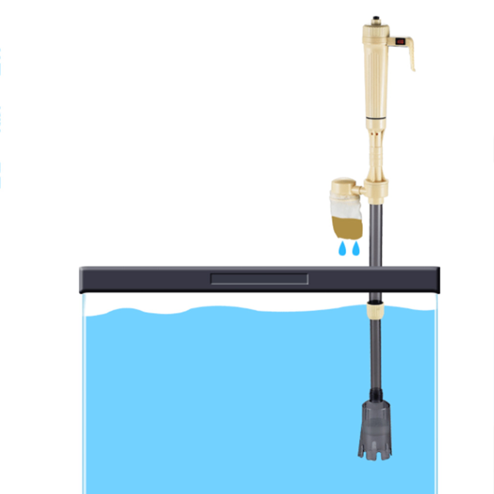 Hot Fish Tank Aquario Cleaning Tools Electric Gravel Cleaner Filter Siphon Vacuum Water Change Washer Pump Aquarium Accessories(China (Mainland))