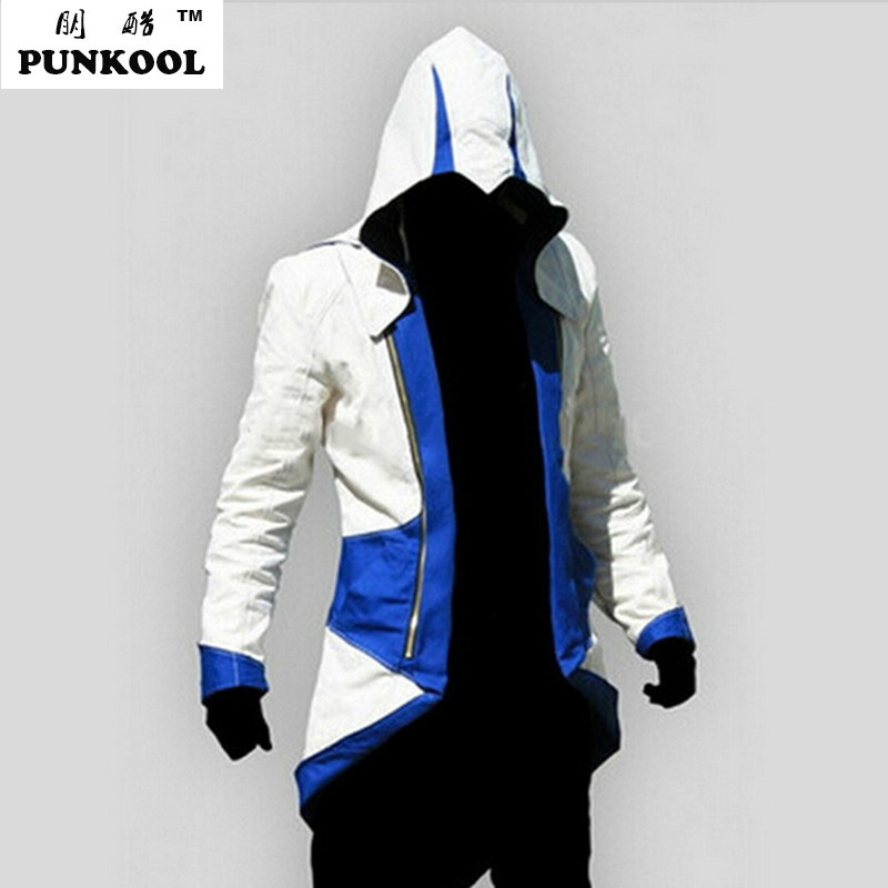 Assassins Creed 3 III Conner Kenway Men Hoodie Jacket Anime Cosplay Assassins Costume Cosplay Coat Novelty Sweatshirt OvercoatОдежда и ак�е��уары<br><br><br>Aliexpress