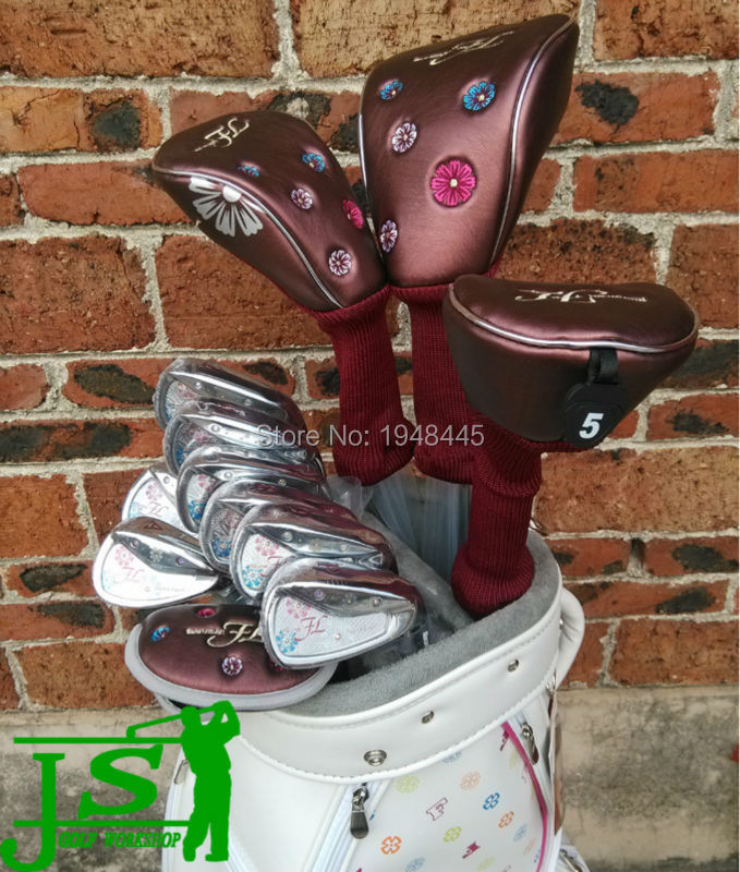 Women Maruman FL Full Set Maruman FL Golf Clubs Driver + Fairways + Irons + Putter + Bag Lady Flex Graphite Shaft With HeadCover(China (Mainland))