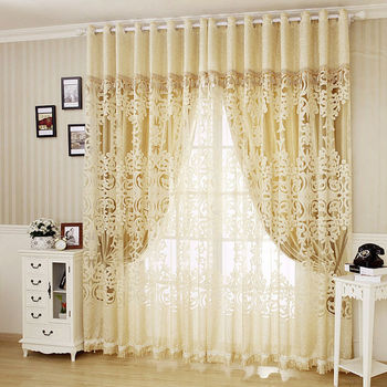 High Quality Jacquard Window Screen/ Sheer/ Tulle/ Balcony Curtain Living Room Curtain Blackout Lining Curtains