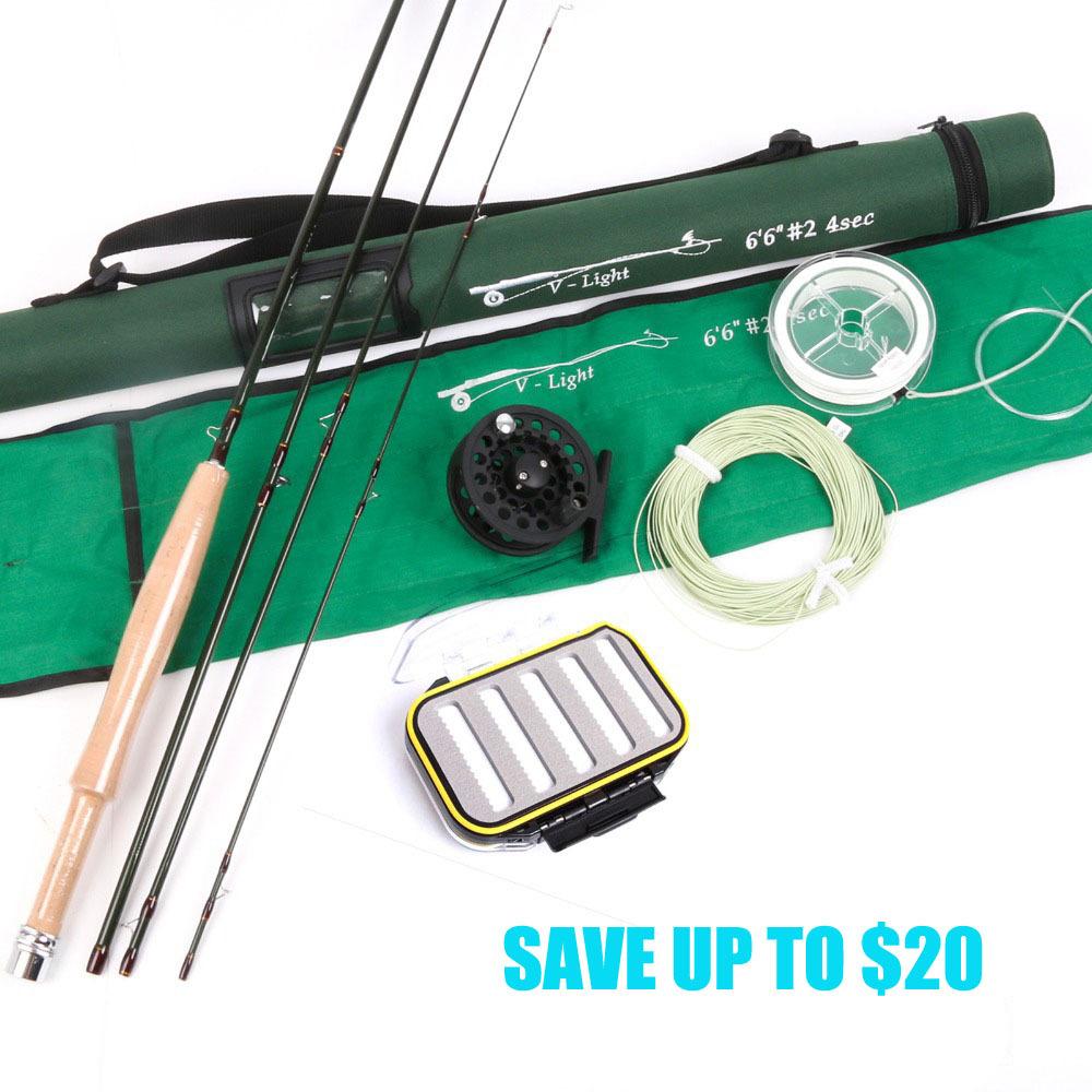 New Fishing Rod 2wt Fly Rod & Fishing Reel Combo 6.6FT Fast Action Super Light Fly Fishing Rod Combo(China (Mainland))