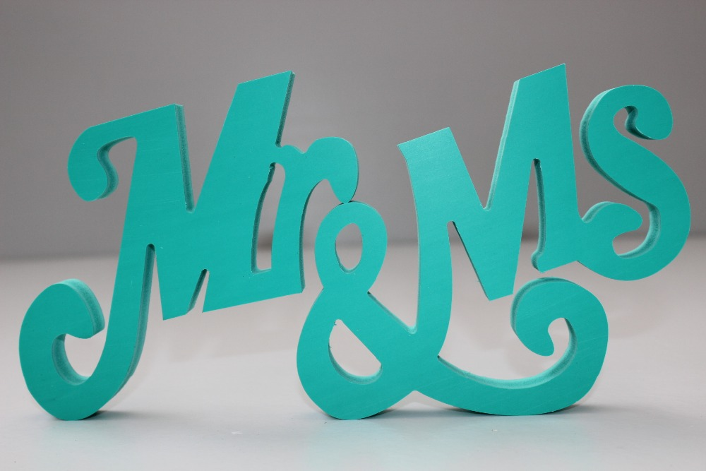 Free shipping green love sign wedding decoration letters for Decoration 5 letters