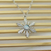 Once Upon A Time Show Snowflake Elsa Pendant Necklace New Fashion 2015 Movie Jewelry