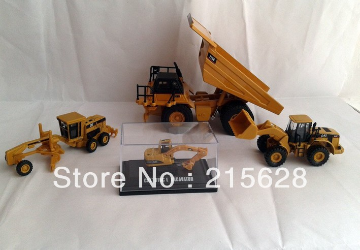 Free shipping 1:64 CAT 775E Truck With CAT 950G 163H 315C toy SET diecast alloy engineering construction vehicle model(China (Mainland))