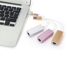 Magnesium alloy craft tradition High Speed USB 3.0 HUB Gigabit Ethernet Adapter USB3.0 external Gigabit Ethernet(China (Mainland))