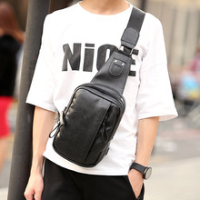 Buy Fashion Leather Chest Pack Male One Shoulder Bags Korean Men's Casual Back Pack Sling Travel Crossbody Backpack Bolsos Hombre for $21.98 in AliExpress store