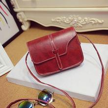 Delicate Hot 2015 Women Girl Mini Shoulder Bag Solid Faux Leather Satchel Crossbody Handbag nor5819 dcuxi