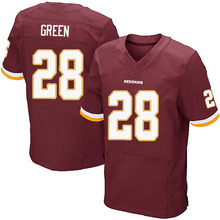 Men's #28 Darrell Green Elite Burgundy Red Team Color Jersey 100% Stitched(China (Mainland))