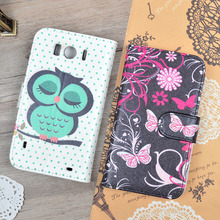 For HTC Sensation XL X315e G21 Luxury Cute Printing PU Leather Case Wallet Cover With Stand Function And Card Slots Phone Bags(China (Mainland))
