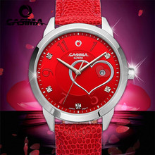 CASIMA  FASHION watches women beauty crystal table casual female quartz watch leather waterproof #2601