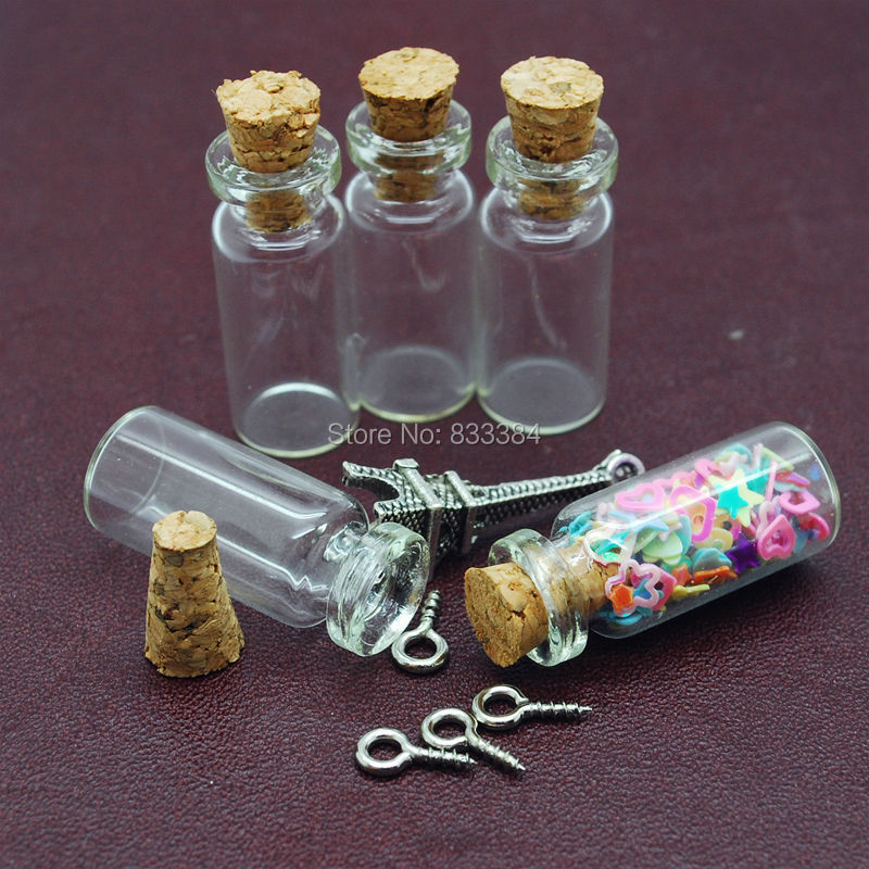 100pcs extra small vials clear glass bottles mini for Making glasses from bottles