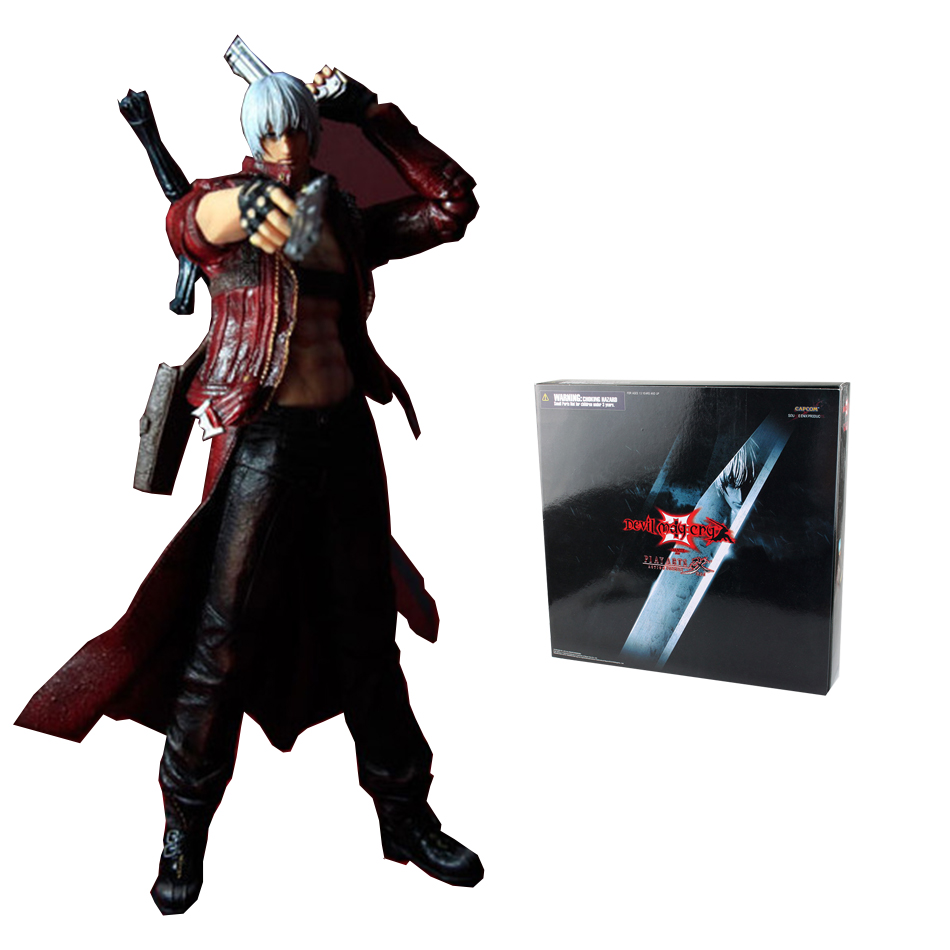 Devil May Cry 3 Play Arts Kai Action Figure Model SQUARE ENIX Dante PVC 23cm Action Figure Collectible Model Toy(China (Mainland))