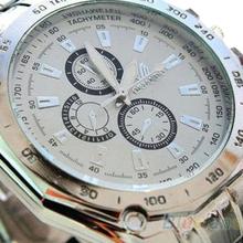 Hot Sale Luxury Fashion Men Stainless Steel Quartz Analog Hand Sport Wrist Watch Watches 1GVJ