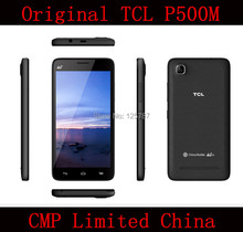 DHL Fast Delivery  TCL P500M 5 Inch MTK6732 Quad Core Android 4.4 512MB RAM 4GB ROM 5MP Cell Phone(China (Mainland))