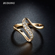 Buy BUDONG 2017 Women Finger Rings Gold-Color Engagement Wedding Rings Women Cubic Zirconia CZ Vintage Lady Jewelry Bijoux for $2.69 in AliExpress store