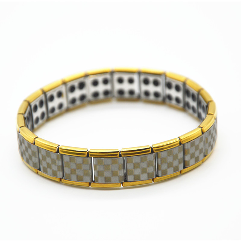 50pcs Wholesales Men Stainless Steel Bracelet Energy Balance Wristband With Germanium Ball Health Bangles + Retail Package Box(China (Mainland))