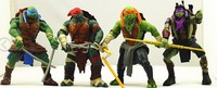 """Free shipping Teenage Mutant Ninja Turtles figure toy doll Movie Version 5"""" Action TMNT 4pcs/set Collection Toys with weapons"""