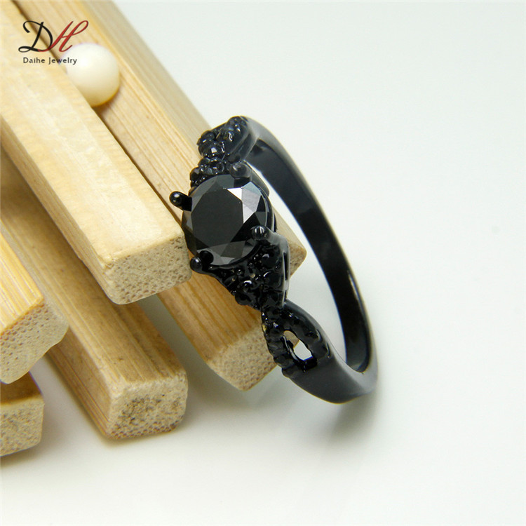 Aliexpress Buy Turkish all black AAA Cubic Zironia Wedding engagement R