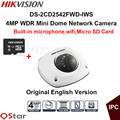 Hikvision Original English CCTV Camera DS 2CD2542FWD IWS 4MP WDR Mini Dome IP WIFI Camera POE