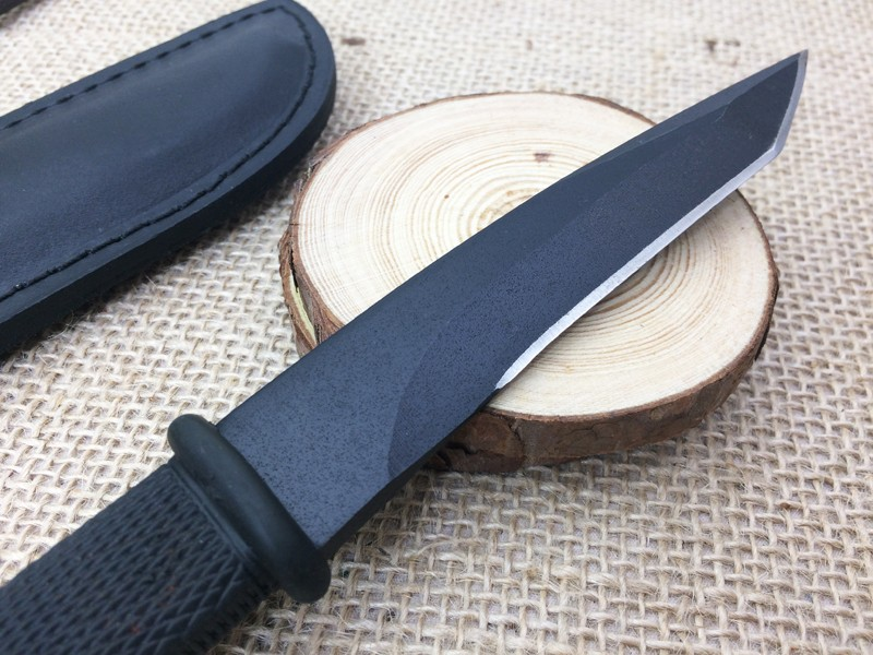 Buy Small Outdoor Fixed Knife 5Cr15Mov Blade Hunting Knife Rescue Straight Knives Camping EDC Knife High Quality Cutting Tools cheap