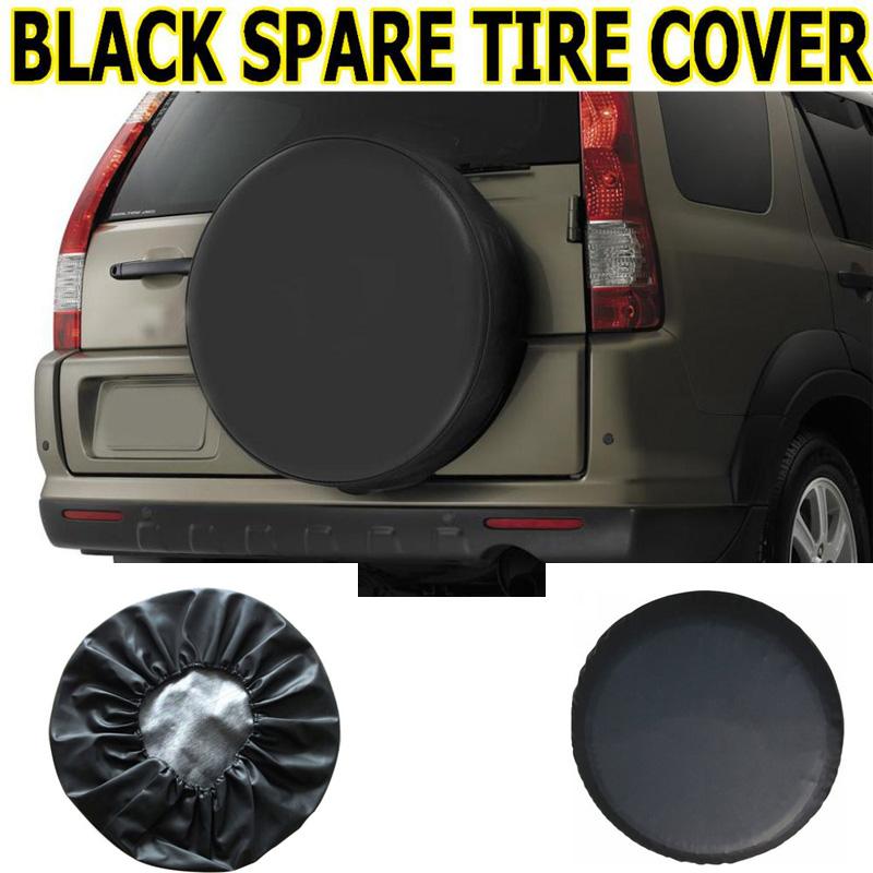 "Universal PU Car Tire Cover RV Truck Trailer Camper Spare Wheel DIY Vinyl Case Auto Black 14"" 15"" 16"" 17""(China (Mainland))"