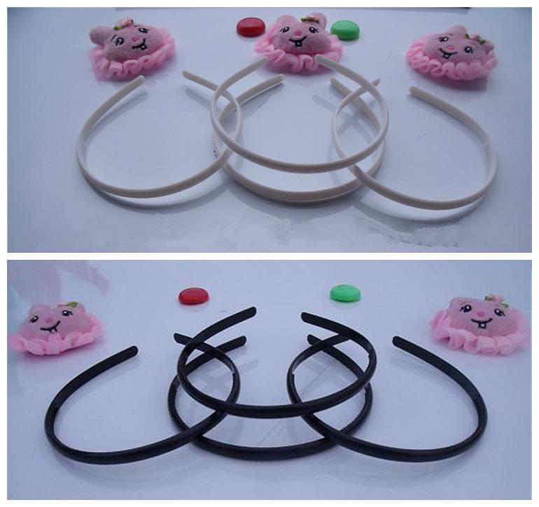 Wholesale 50pcs/lot DIY 8mm white black plastic headband with teeth inside DIY Craft tools Jewelry Hair Accessories DIY851(China (Mainland))