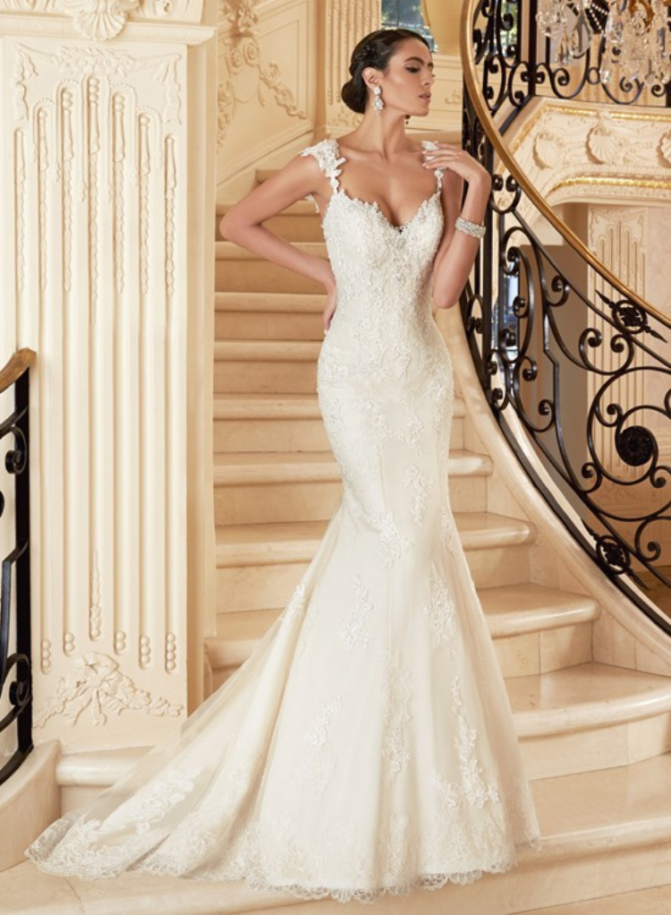 Strapless mermaid wedding dress no train ivo hoogveld for Wedding dress no train