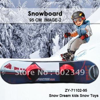 Free Shipping Hot Sales outdoor snow sport toy for Kids Plastic Snowboard(simple footstrap/95cm/5PCS/CTN)