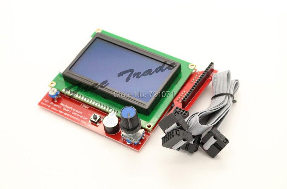 RAMPS1.4 LCD 12864 LCD control panel 3D printer smart controller Free shipping Drop shipping(China (Mainland))