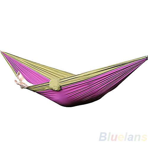 New Parachute Nylon Fabric Hammock Travel Camping For Double Two Persons Hanging Bed Outdoor Leisure 270 x 140CM 086A(China (Mainland))